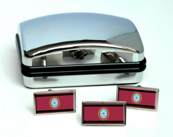 Argentine Salta Flag Cufflink and Tie Pin Set