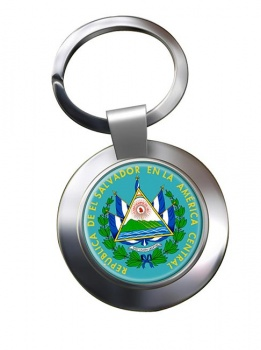 El Salvador Metal Key Ring