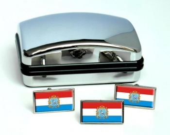 Samara Oblast Flag Cufflink and Tie Pin Set