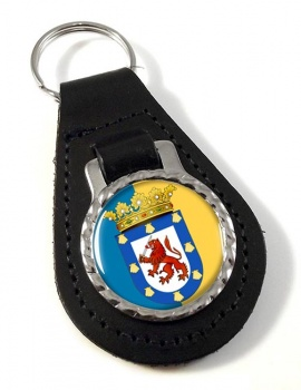 Santiago (Chile) Leather Key Fob