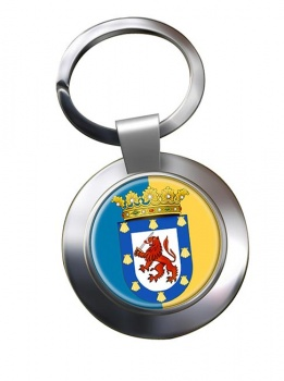 Santiago (Chile) Metal Key Ring