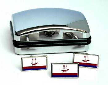 Saransk Flag Cufflink and Tie Pin Set