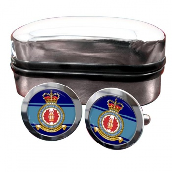 Search and Rescue Training Unit Round Cufflinks