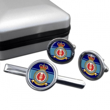 Search and Rescue Training Unit Round Cufflink and Tie Clip Set