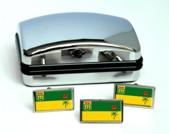 Saskatchewan (Canada) Flag Cufflink and Tie Pin Set
