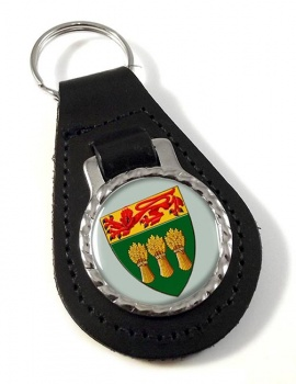 Saskatchewan (Canada) Leather Key Fob