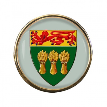 Saskatchewan (Canada) Round Pin Badge