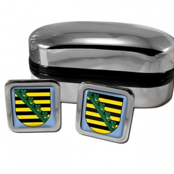 Sachsen Saxony Germany Square Cufflinks