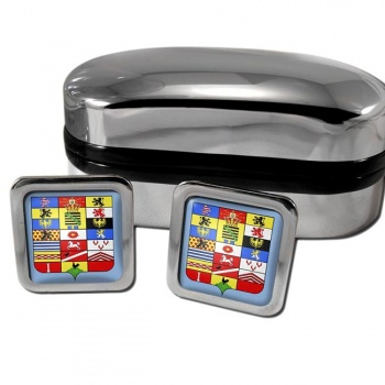 Sachsen-Altenburg Germany Square Cufflinks