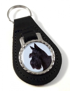 Scottish (Scottie) Terrier Leather Key Fob