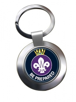Sea Scouts Chrome Key Ring