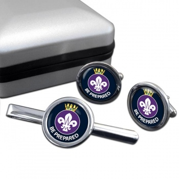 Sea Scouts Round Cufflink and Tie Clip Set