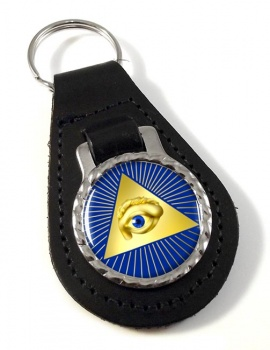 Eye of Providence (All Seeing Eye of God) Leather Key Fob