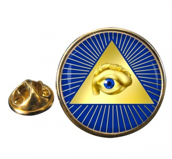 Eye of Providence (All Seeing Eye of God) Round Pin Badge