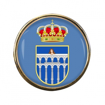 Segovia (Spain) Round Pin Badge