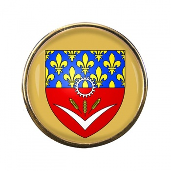 Seine-Saint-Denis (France) Round Pin Badge