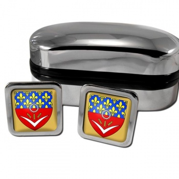 Seine-Saint-Denis France Square Cufflinks