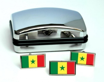 Senegal Flag Cufflink and Tie Pin Set