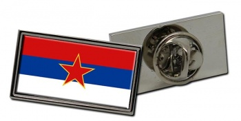 Yugoslavia Serbia Flag Pin Badge