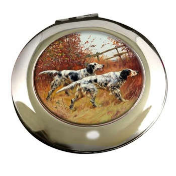 English Setters by Thomas Blinks Mirror