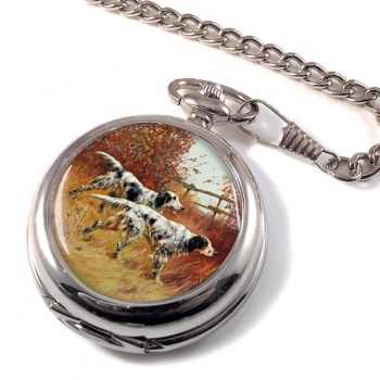 English Setters by Thomas Blinks Pocket Watch
