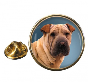 Shar Pei Round Pin Badge