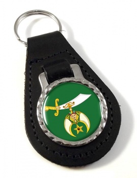 Shriners Bonded Leather Medallion Keyfob