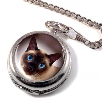 Siamese Cat Pocket Watch