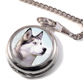 Siberian Husky Pocket Watch