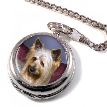 Australian Silky Terrier Pocket Watch