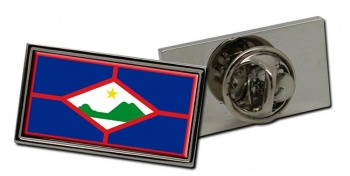 Sint Eustatius (Netherlands) Flag Pin Badge