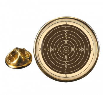 Small Bore Rifle Target Round Pin Badge