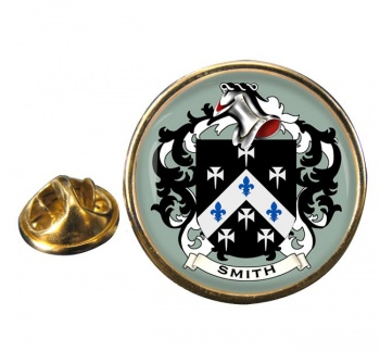 Smith England Coat of Arms Round Pin Badge