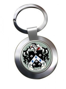 Smith England Coat of Arms Chrome Key Ring