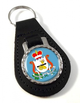 Smolensk Oblast Leather Key Fob