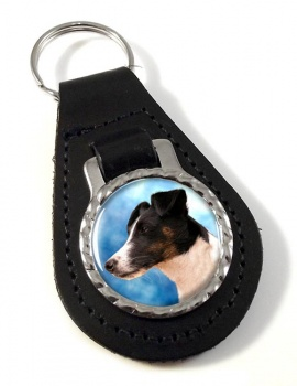Smooth Fox Terrier Leather Key Fob