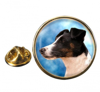Smooth Fox Terrier Round Pin Badge