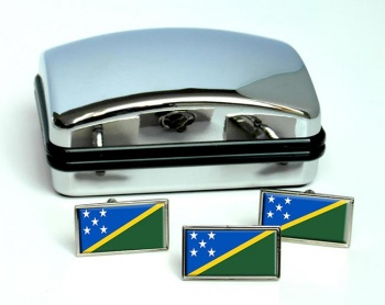 Solomon Islands Flag Cufflink and Tie Pin Set