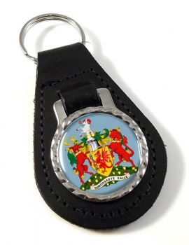 Somerset  (England) Leather Key Fob