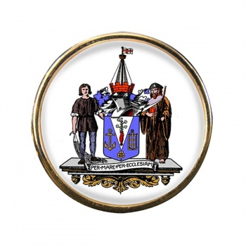 Southend-on-Sea (England) Round Pin Badge