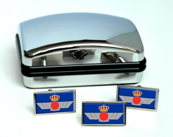 Eje�rcito del Aire Rectangle Cufflink and Tie Pin Set