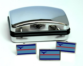 Squadron Leader Rectangle Cufflink and Tie Pin Set