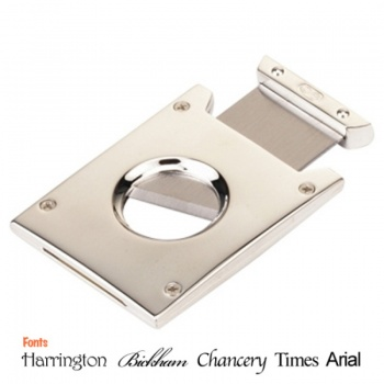 Personalised Silver Plated Square Cigar Cutter