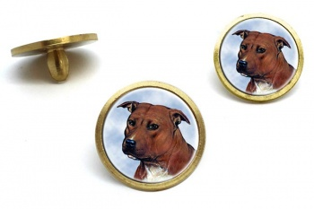 Staffordshire Bull Terrier  Golf Ball Marker Set