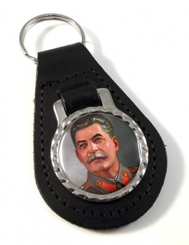 Stalin Bonded Leather Medallion Keyfob