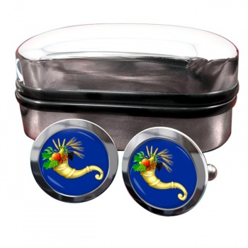 Masonic Lodge Officer Steward Round Cufflinks