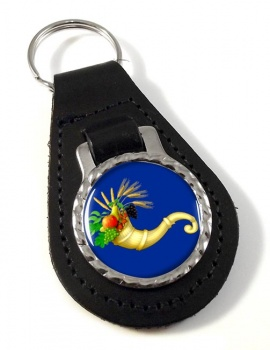 Masonic Lodge Officer Steward Leather Key Fob