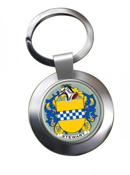 Stewart Coat of Arms Chrome Key Ring