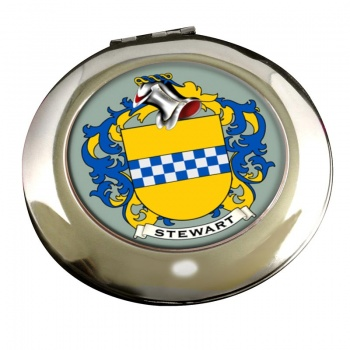 Stewart Coat of Arms Chrome Mirror