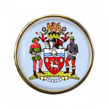 St. John's (Canada) Round Pin Badge